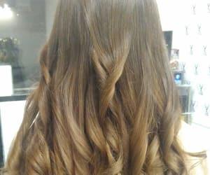 brownhair, hair, and waves image