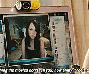 emma stone, gif, and easy a image