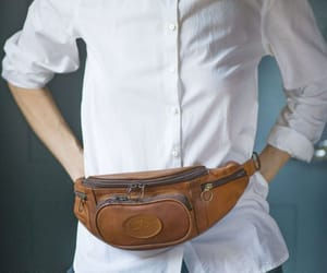 etsy, premium leather bag, and fanny pack vintage image