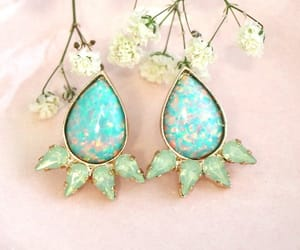 bridal, jewelry, and opal earrings image