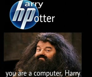 harry potter, hp, and computer image