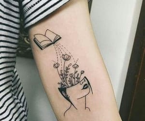 beautiful, body art, and books image