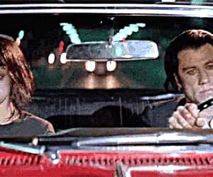 gif, John Travolta, and pulp fiction image