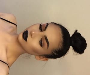 beauty, black, and makeup image