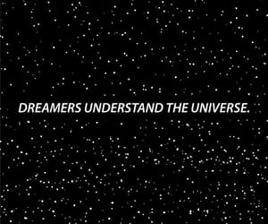 dreamers, universe, and wallpaper image
