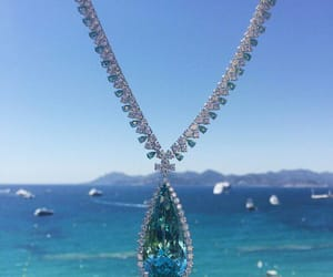blue, diamond, and necklace image