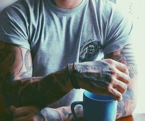 guy, outfit, and tattoo image