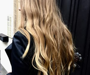 blonde girl, hair, and hairstylist image