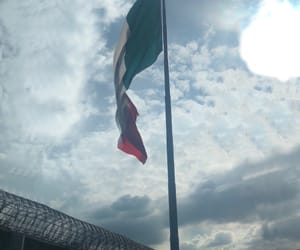 clouds, flag, and mexico image