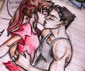 character design, kiss, and pencil image