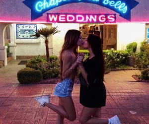 best friends, vegas, and wedding image