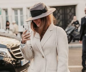 chic, fashion, and hat image