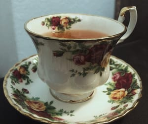 flowers, lovely, and tea image