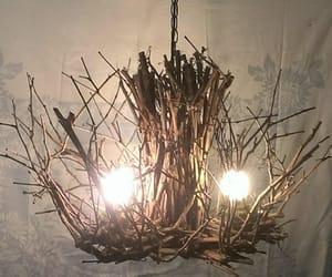 etsy, modern rustic, and twigchandelier image