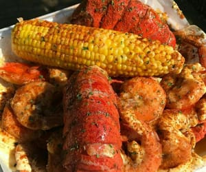 corn, crabs, and delicious image