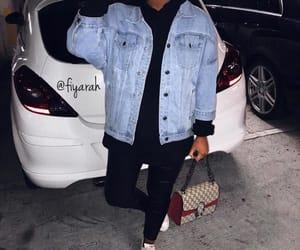 fashion style, veste en jean, and goal goals life image
