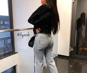 fashion style, long hair hairstyle, and outfit clothes image