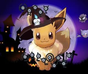 eevee, Halloween, and pokemon image