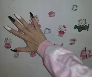 aesthetic, hello kitty, and nails image