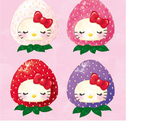 hello kitty and starwberry image