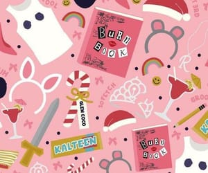 wallpaper, pink, and mean girls image