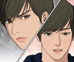 handsome boy, true beauty, and webtoon image
