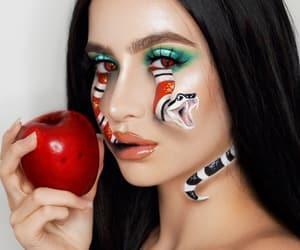 makeup, art, and brunette image