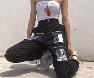 grunge, outfit, and baddie image