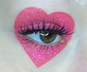 eye, heart, and makeup image