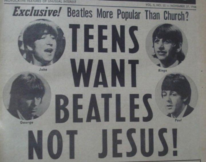 beatles, jesus, and music image