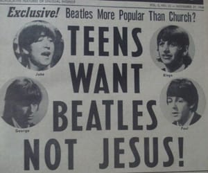 beatles, music, and jesus image