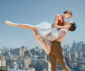 ballerina, ballet, and couple image