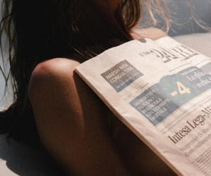 summer, woman, and news paper image