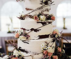 cake, wedding, and dessert image