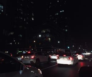 black, city, and lights image