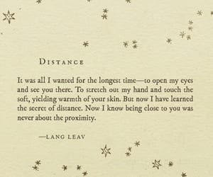 quotes, distance, and Lang Leav image