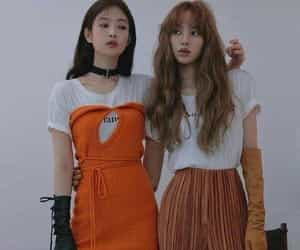 blackpink, jennie kim, and lisa manoban image