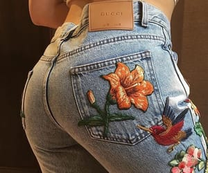 jeans, fashion, and gucci image