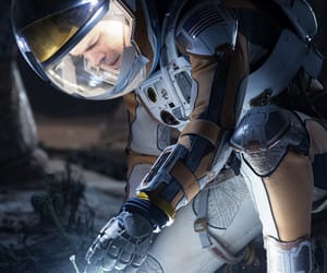 astronaut, matt damon, and mars image