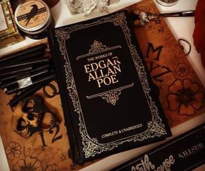 autumn, book, and edgar allan poe image