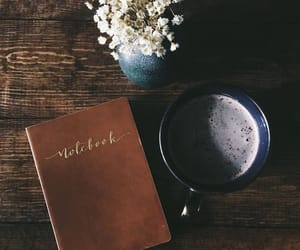 coffee, nature, and notebook image