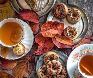autumn, tea, and cake image