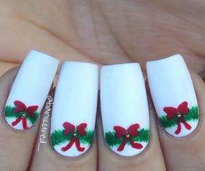 bow, christmas, and nails image