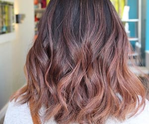 colour, rose gold, and balayage image