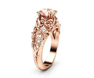 etsy, gold ring, and unique engagement image