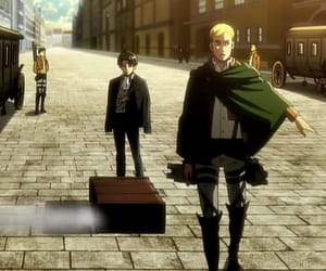 Erwin, attack on titan, and levi image