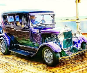 boardwalk, ford, and purple image