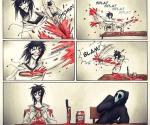jeff the killer, funny, and creepypasta image