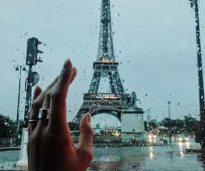 paris, rain, and france image