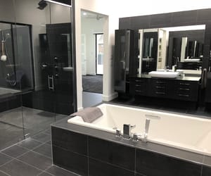 bathroom, black, and fancy image